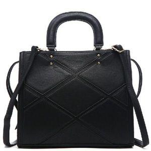 🎉Host PickNew Black Acacia Patch Work Satchel Bag
